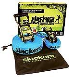 Slackers USA Slackline Classic 15m, Set mit zusätzlicher Teaching Line, Handlauf zum leichten...