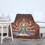 Yoga Meditation Mandala Wohndecken Kuscheldecken Weich Warm Sofadecke Couchdecke Schlafdecke...
