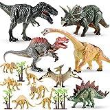 Dino Figur 16pcs Dinosaurier Spielzeug Set mit Fossilien Skelett Figuren Spiel fr Kinder Geburtstag...
