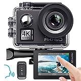 AKASO Action cam 4K/60fps /Action Kamera 20MP WiFi mit Touchscreen EIS 40M unterwasserkamera V50...
