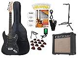 Rocktile Super Kit Komplettset E-Gitarre (Verstärker, Stimmgerät, Kapodaster, Gurt, Plektren,...