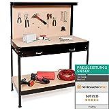 TecTake Werkbank | Werkzeugbank mit Schublade | Lochwand für hängende Werkzeuge - Verschiedene...