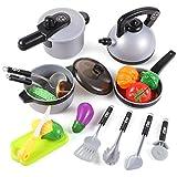 EFO SHM Küchenspielzeug Kinderküche Topfset, Kochtopf Kochgeschirr Set für Spielküche aus Pfanne...