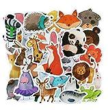 ⭐Top Aufkleber! ⭐ Set von 50 Tieren Aufkleber Premium Qualität - Vinyls Stickers Nicht Vulgär...