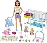 Barbie GFL38 - Skipper Babysitters Inc. Kinderzimmer Spielset, Puppen Spielzeug ab 3 Jahren