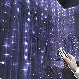 LED Lichtervorhang Sternenvorhang Lichterkette 8 Modi, Kreative Party Hochzeit Vorhang Lichterkette...