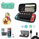 Nintendo Switch Tragetasche, Animal Crossing Case Kit mit Zubehör, Portable Animal Crossing Storage...