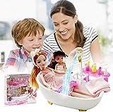 N/X Barbie Puppe,Bad Mbel Und Puppe Set Badezimmer Puppe Spielzeug Set Fr Mdchen Kinder Geburtstag...