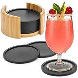 Aimego Silikon Untersetzer für Gläser Getränkeuntersetzer für Tisch und Bar Glasuntersetzer in...
