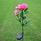 Solar Roses Flower Lights, Led Neue Modell Solar Rose Light Outdoor Wasserdichte Landschaft...