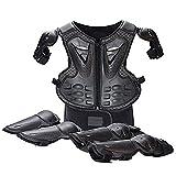 WJH Motorrad-Schutzausrüstung, Knieschützer + Ellbogenschützer + Rückenprotektorweste für...