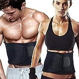 WeyTy Taille Trainer Gürtel, Verstellbarer Bauchweggürtel Fitnessgürtel Waist Trimmer für Herren...