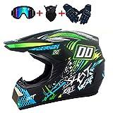 ZZSG Motorrad Cross Helme mit D.O.T Standard KinderMX Motocross Helm Quad-Helm Sumo-Helm Sport...