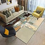 Alayth Teppich Wohnzimmer Schlafzimmer Designer Anti-Fleck Waschbarer Dekorativer Teppich Weich Und...