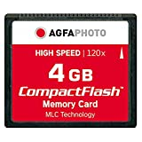 AgfaPhoto 120x High Speed MLC Compact Flash (CF) 4 GB Speicherkarte
