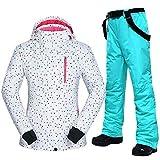 Skianzug für Damen, Winter, Outdoor, winddicht, wasserdicht, Mountain-Ski-Jacke und Hose,...