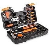 FIXKIT Werkzeugset im Koffer, 39 teilig Werkzeugkoffer, Werkzeug-Set Ideal Weihnachtsgeschenk für...
