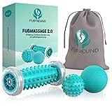 FUßFREUND© Premium Fußmassagegerät Fußmassage Roller [3er Set] - Verbessertes Konzept 2020 -...