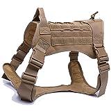Yuan Ou Hundegeschirr, Militär, taktisch, Deutscher Schäferhund, Hundeweste mit Griff, Nylon,...