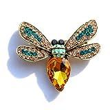 Fashion Jewelry Brosche Honigbiene Strasssteine goldfarben Mix Color mehrfarbig