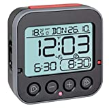 TFA Dostmann Bingo 2.0 digitaler Funk-Wecker mit Temperaturanzeige, Kunststoff, schwarz, (L) 95 x...