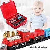 Fiaoen Elektrotriebwagen Zug Spielzeug, Weihnachten Zug Set, Eisenbahnschienen Sets, Kinder...