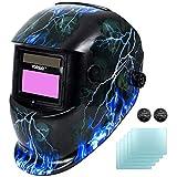 Yorbay® Solar Automatisch verdunkelnd Schweißhelm Schweißmaske mit 5 Stück Ersatzgläser,...