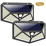 Solarlampen für Außen mit Bewegungsmelder 1500 Lumen,iPosible 150LED Umweltschutz Solar...
