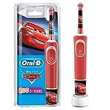 Oral-B Kids Cars Elektrische Zahnbürste mit Disney-Stickern, für Kinder ab 3 Jahren, rot, 1 Stück