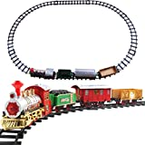 Parkomm Weihnachtszug Set, Christmas Electric Track Train Kinder Classic Rail Car Compartment...