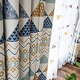 GHJYU Vorhänge im amerikanischen Stil, geometrische Baumwolle, Leinen, bedruckt,...