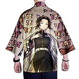 Herren Kimonos Cardigan Druck Sommer Japanischen Stil T-Shirt Kimono Casual Strickjacke Bademantel...