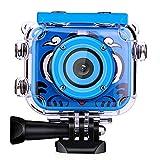 POSIVEEK Kinder Kamera HD Wiederaufladbar Digital Kinder Camcorder Unterwasser Action Cam...