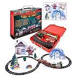 Parkomm Weihnachtszug Set, Schienengleisspielzeug Elektroautospielzeug, Classic Rail Compartment...