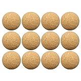 Diantai 12 Stück Tischfußball Kickerbälle 36mm Fußbälle Massivholz Mini Ball...