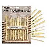 Mont Marte Modellier-Werkzeug aus Holz – 10 Doppelseitige Sculpting Werkzeuge in verschiedenen...