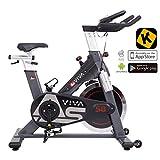 AsVIVA Indoor Cycle S8 Pro Speed-Bike mit Bluetooth App Kontrolle - Fitnessbike & Heimtrainer inkl....