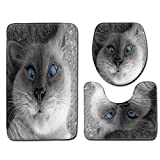 Generic Lovely,Bath Mat SetAnti Slip Bathroom Mat Set Bathroom Cute cat Animal Print Non-Slip...