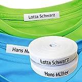 Namensaufkleber Kleidung (100 stück), Personalisierbare Bügeletiketten, Kleidung Namensetiketten...