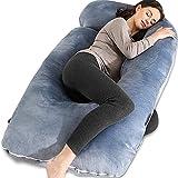 Chilling Home Schwangerschaftskissen U Form Seitenschläferkissen mit Bezug U Kissen Stillkissen...