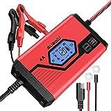 SUAOKI 4A Batterie Ladegerät 6/12V, Batterieladegerät Erhaltungsladegerät 8 Schritt...
