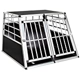 TecTake Alu Hundetransportbox -Diverse Gren- (Double Gro)