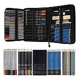 Bleistifte Skizzierstifte Set Zeichenset 72 STK Bleistifte für Skizzieren und Zeichnen Profi Art...