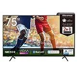 Hisense 75AE7000F 190 cm (75 Zoll) Fernseher (4K Ultra HD, HDR, Triple Tuner DVB-C/ S/ S2/ T/ T2,...