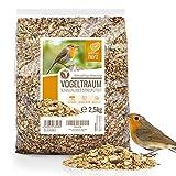 wildtier herz I Vogeltraum Schalenlos - Premium Vogelfutter, Wildvogelfutter Schalenfrei,...
