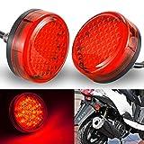NATGIC Motorrad-Kontrollleuchte Runde Universal Motorrad Reflektoren Rückleuchten...