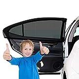 2 Stück Sonnenschutz Auto Baby mit UV Schutz, Auto Sonnenschutz Autofenster Seitenfenster...