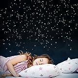 WANDKINGS 261 Leuchtpunkte fr Sternenhimmel, extra Starke Leuchtkraft, Wandsticker Leuchtaufkleber,...