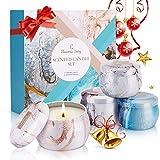 Duftkerze Set Weihnachten, Eleanore's Diary Natürliches Sojawachs Kerzen Set (4 Pack), Aroma Kerzen...