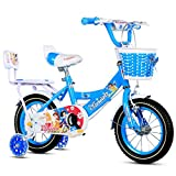 S2F5 Kinderfahrräder, Kinderfahrräder 5-8 Jahre alt, Kinderdreiräder, 18 Zoll (Color : Blue)
